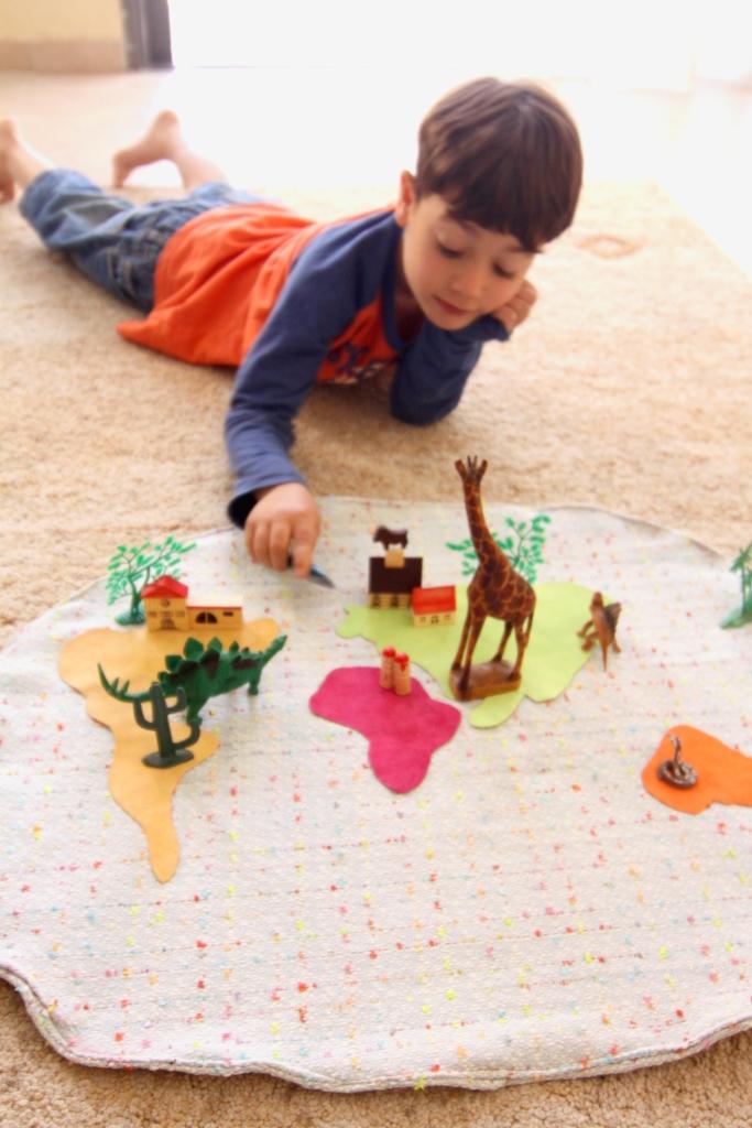 שטיח כדור הארץ פעילות עם ילדים